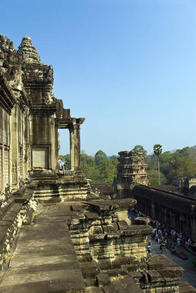 Cambodian Photograph - Upper Level Angkor Wat, Angkor, Cambodia by Photo By D. Johnson
