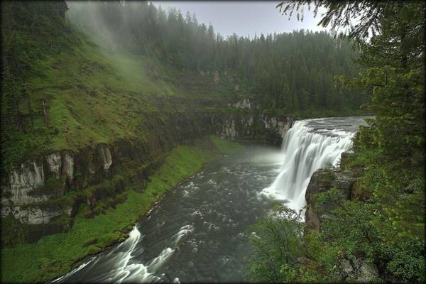 Photograph - Upper Messa Falls by Ryan Smith