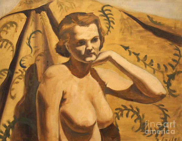 Painting - Upper Torso Nude 1938 by Art By Tolpo Collection
