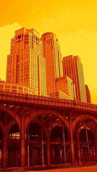 Upper West Side And Hudson River Manhattan Art Print