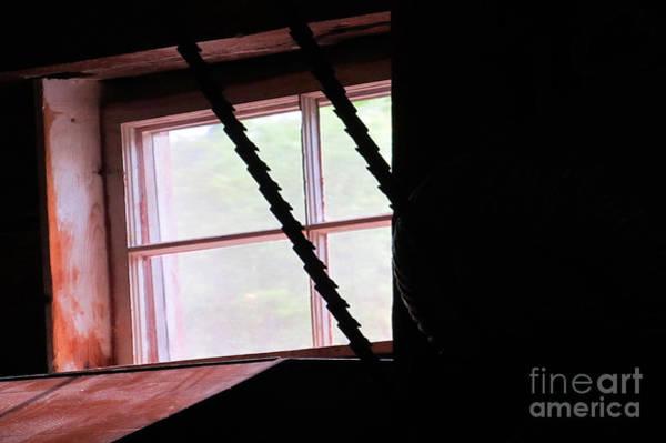 Bonneyville Mill Wall Art - Photograph - Upper Window by Tina M Wenger