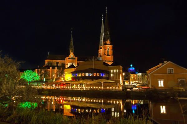 Photograph - Uppsala By Night by Torbjorn Swenelius