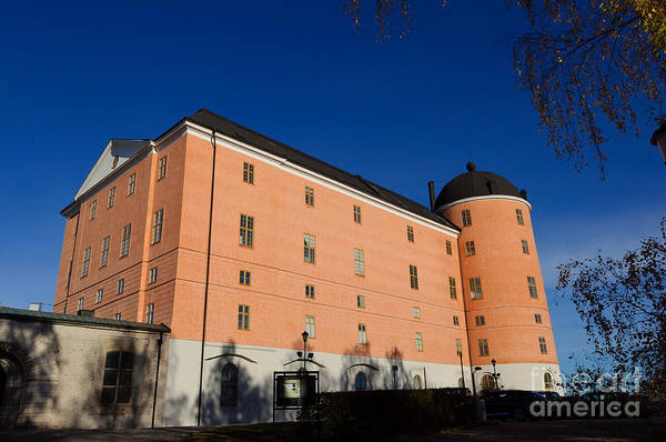 Photograph - Uppsala Castle - Sweden - With Deep Blue Sky by David Hill