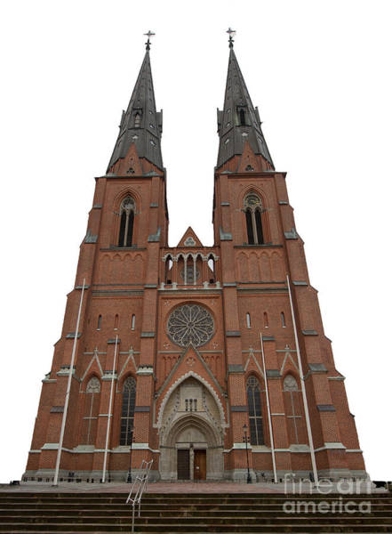Photograph - Uppsala Cathedral by Torbjorn Swenelius