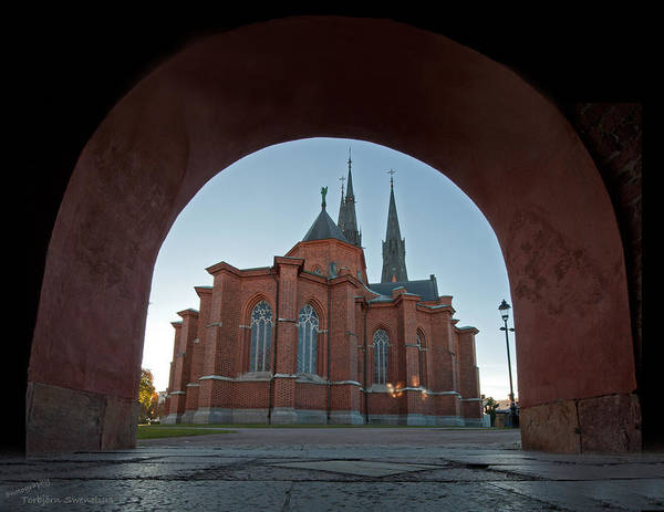 Photograph - Uppsala Cathedral's East Side by Torbjorn Swenelius