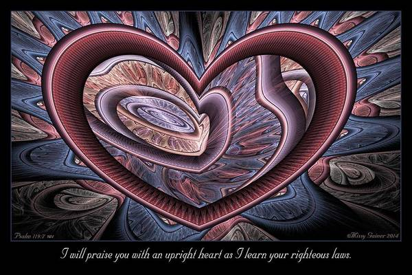 Digital Art - Upright Heart by Missy Gainer