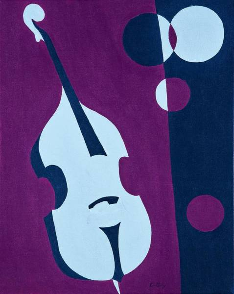 Retro Painting - Upright Jazz by Brian Broadway