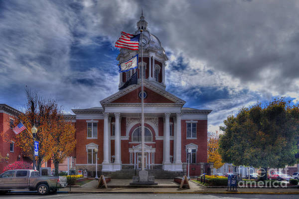 Photograph - Upshur County Courthouse Buckhannon Wv by Dan Friend