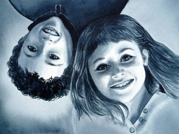Painting - Upside Down Kids  by Irina Sztukowski