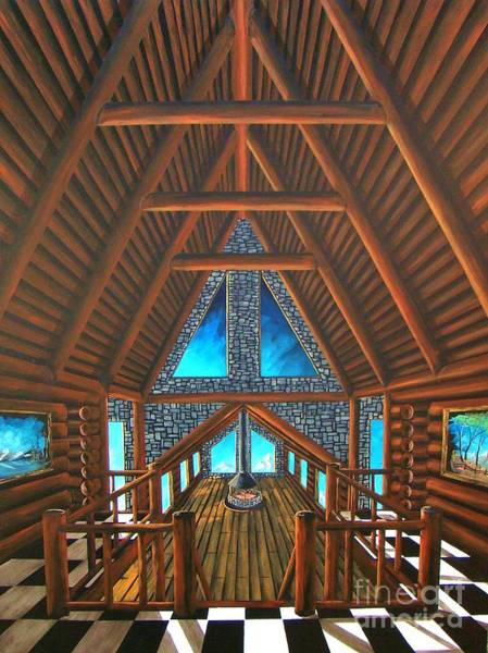 Wall Art - Painting - Upstairs Dream by Steven Lebron Langston