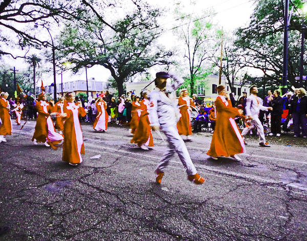 Photograph - Uptown Parade In New Orleans by Louis Maistros