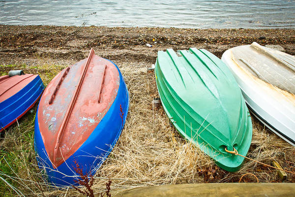 Dinghies Photograph - Upturned Boats by Tom Gowanlock