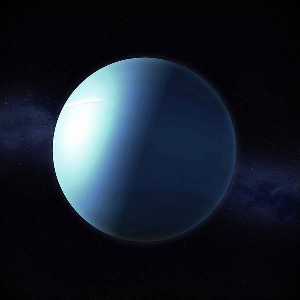 Object Digital Art - Uranus, Artwork by Science Photo Library - Andrzej Wojcicki