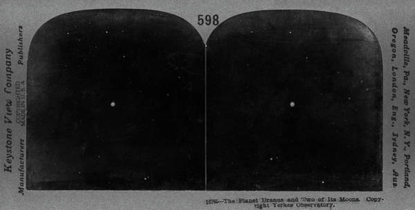 Stereogram Photograph - Uranus In 1910s by Us Naval Observatory/science Photo Library