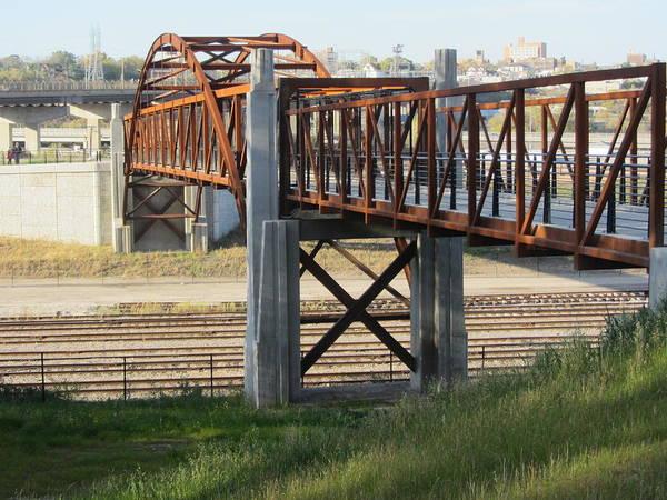 Photograph - Urban Bridge With Arch by Anita Burgermeister