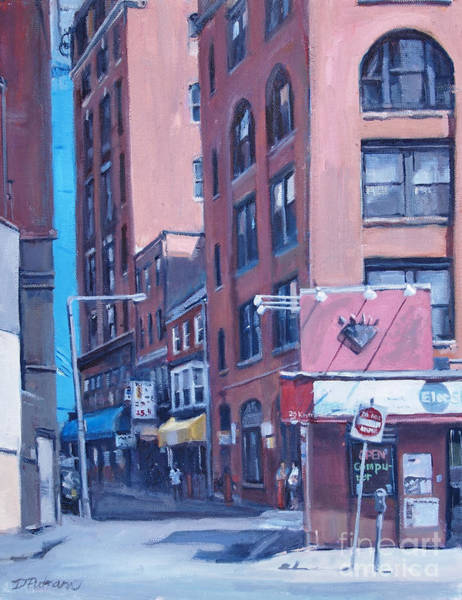 Painting - Urban Canyon Chinatown by Deb Putnam