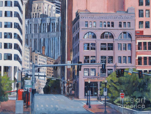 Painting - Urban Canyon Congress Street by Deb Putnam