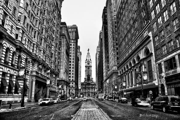 Photograph - Urban Canyon - Philadelphia City Hall by Bill Cannon