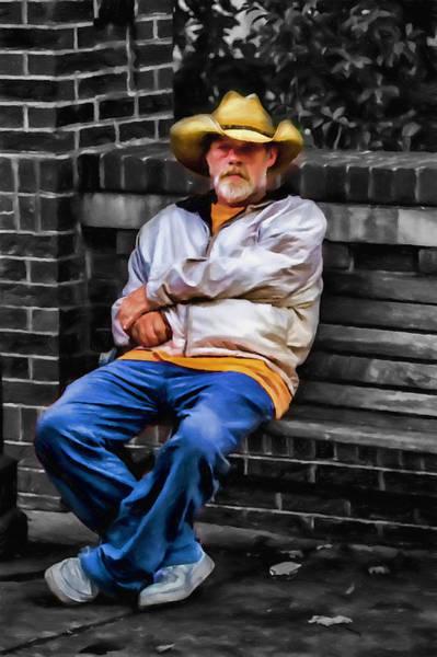 Asheville Mixed Media - Urban Cowboy by John Haldane