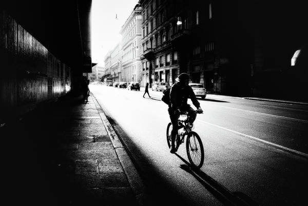 Wall Art - Photograph - Urban Cyclist by Massimiliano Mancini