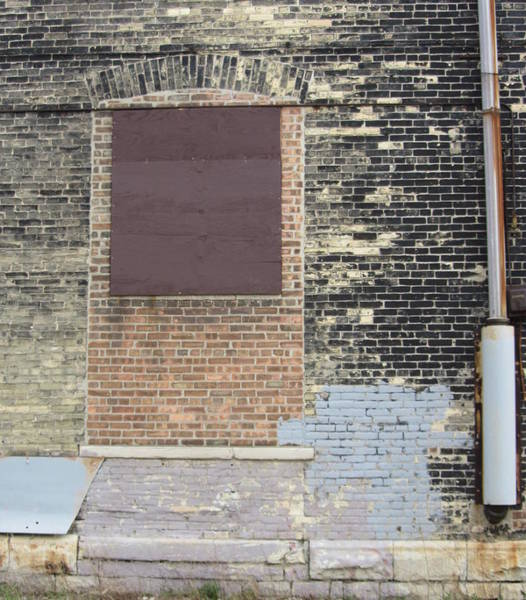 Photograph - Urban Decay Bricked Window by Anita Burgermeister