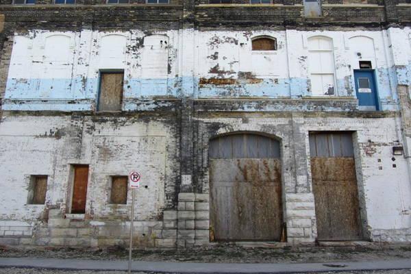 Photograph - Urban Decay Pabst Blue Door by Anita Burgermeister