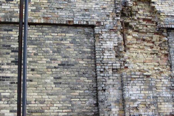 Photograph - Urban Decay Pabst Brick by Anita Burgermeister