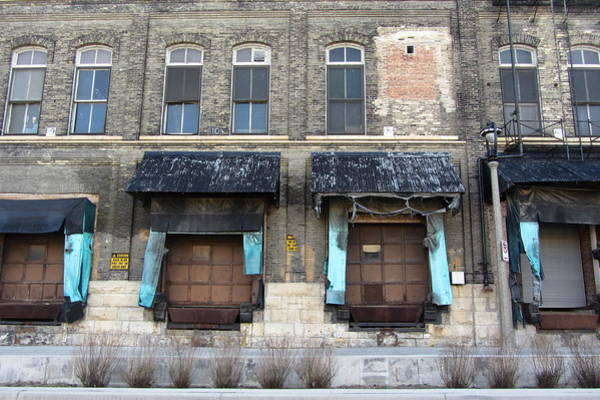 Photograph - Urban Decay Pabst Docks And Awnings by Anita Burgermeister