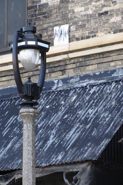 Photograph - Urban Decay Pabst Street Lamp by Anita Burgermeister