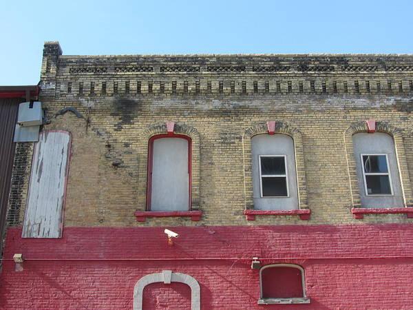 Photograph - Urban Decay Red Brick 1 by Anita Burgermeister