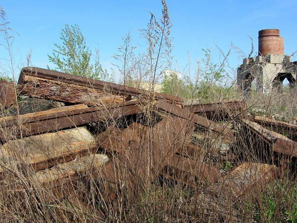 Photograph - Urban Decay Solvay Brick Ruins 2 by Anita Burgermeister