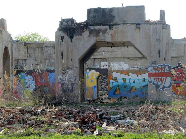 Photograph - Urban Decay Solvay Ruins 1 by Anita Burgermeister