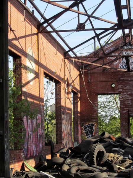 Photograph - Urban Decay Solvay Ruins 14 by Anita Burgermeister