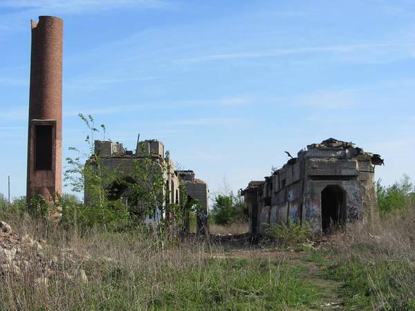 Photograph - Urban Decay Solvay Ruins 3 by Anita Burgermeister
