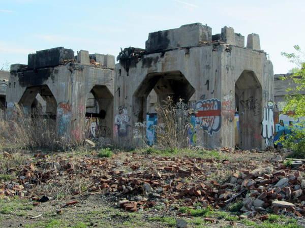 Photograph - Urban Decay Solvay Ruins 4 by Anita Burgermeister