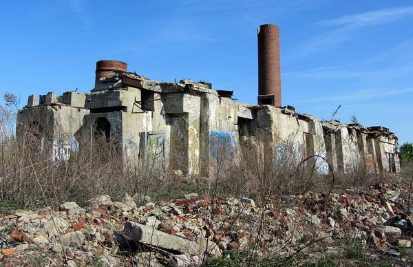 Photograph - Urban Decay Solvay Ruins 5 by Anita Burgermeister