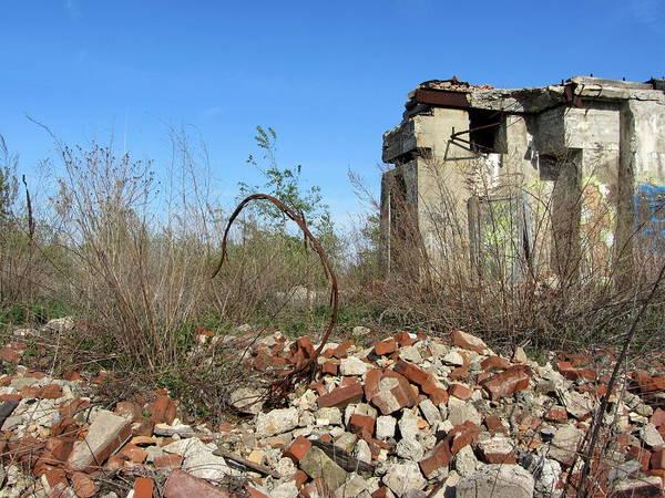 Photograph - Urban Decay Solvay Ruins 6 by Anita Burgermeister