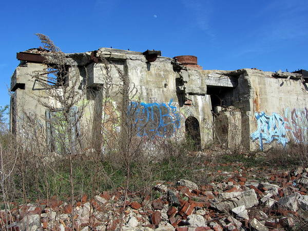 Photograph - Urban Decay Solvay Ruins 7 by Anita Burgermeister