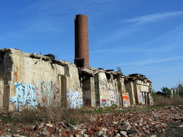 Photograph - Urban Decay Solvay Ruins 8 by Anita Burgermeister