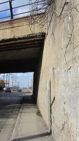 Photograph - Urban Decay Train Bridge 2 by Anita Burgermeister