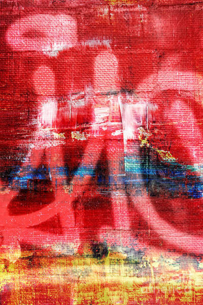 Manchester City Wall Art - Photograph - Urban Graffiti Abstract Color by Edward Fielding