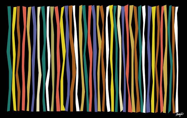 Bamboo Digital Art - Urban Black Color Sticks by Patricia Lintner