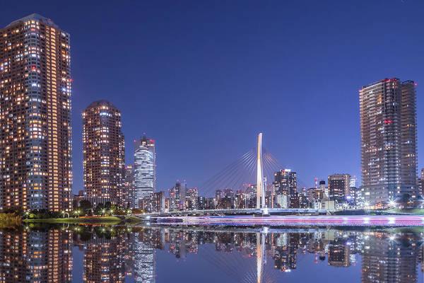 Japanese Culture Photograph - Urban Reflection At Tokyo Tsukishima At by Photography By Zhangxun