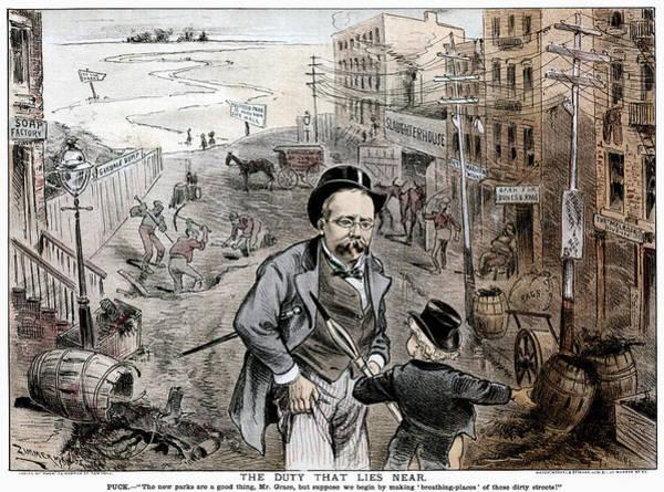 Political Cartoon Painting - Urban Revewal, C1886 by Granger