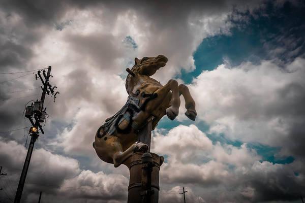 Photograph - Urban Sky Horse by Louis Maistros