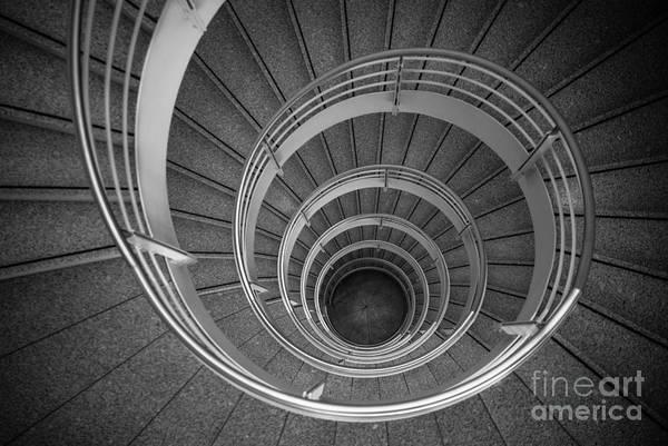 Photograph - urban spiral - gray II by Hannes Cmarits