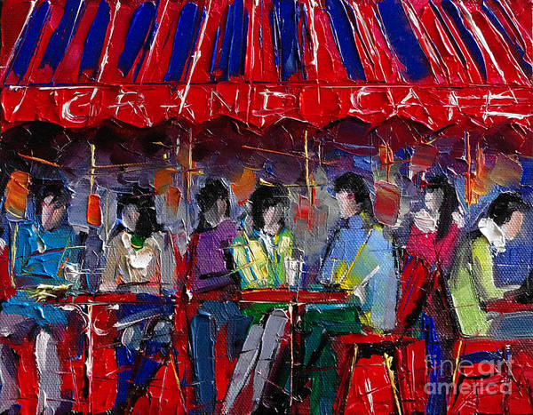 Urban Life Painting - Urban Story - Grand Cafe by Mona Edulesco