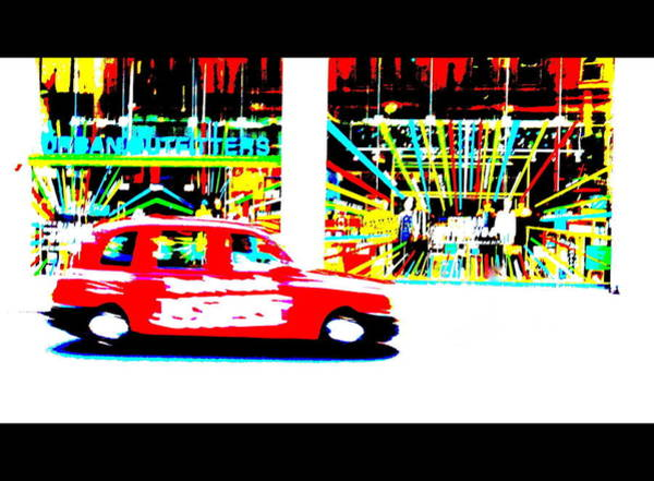 Wall Art - Photograph - Urban Taxi Cruising London  by Funkpix Photo Hunter