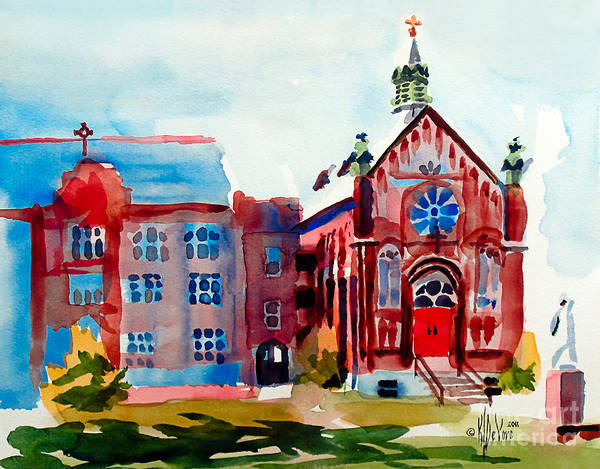 Painting - Ursuline Academy Arcadia Missouri by Kip DeVore