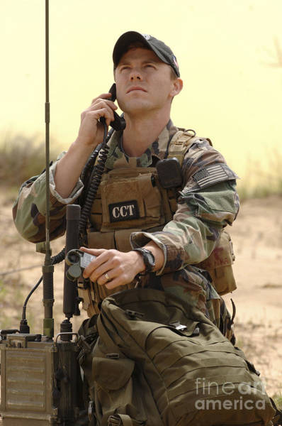 Fort Bragg Photograph - U.s. Air Force Combat Controller by Stocktrek Images
